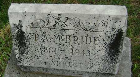 MCBRIDE, P. A. - Washington County, Arkansas | P. A. MCBRIDE - Arkansas Gravestone Photos