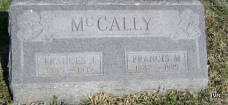 MCCALLY, FRANCIS M. - Washington County, Arkansas | FRANCIS M. MCCALLY - Arkansas Gravestone Photos