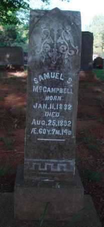 MCCAMPBELL, SAMUEL S. - Washington County, Arkansas | SAMUEL S. MCCAMPBELL - Arkansas Gravestone Photos
