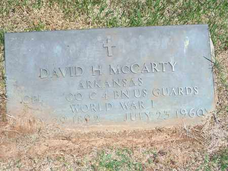 MCCARTY (VETERAN WWI), DAVID H. - Washington County, Arkansas | DAVID H. MCCARTY (VETERAN WWI) - Arkansas Gravestone Photos