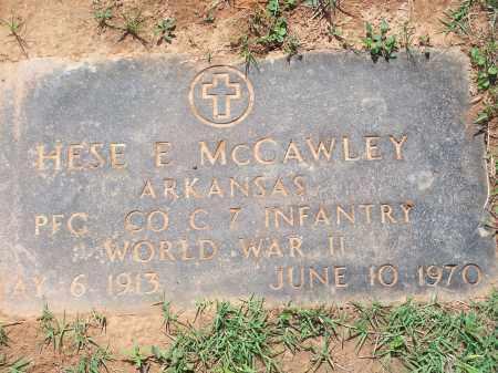 MCCAWLEY (VETERAN WWII), HESE E. - Washington County, Arkansas | HESE E. MCCAWLEY (VETERAN WWII) - Arkansas Gravestone Photos