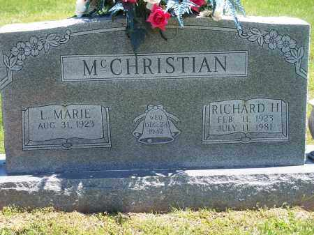 MCCHRISTIAN, RICHARD H. - Washington County, Arkansas | RICHARD H. MCCHRISTIAN - Arkansas Gravestone Photos