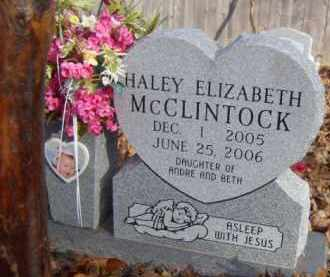 MCCLINTOCK, HALEY ELIZABETH - Washington County, Arkansas | HALEY ELIZABETH MCCLINTOCK - Arkansas Gravestone Photos