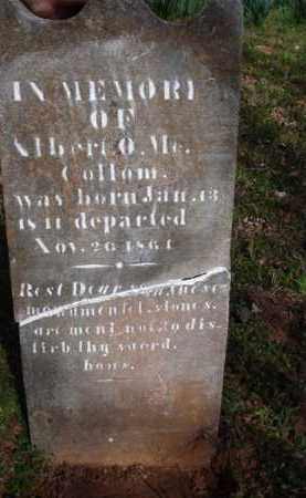 MCCOLLOM, ALBERT O. - Washington County, Arkansas | ALBERT O. MCCOLLOM - Arkansas Gravestone Photos
