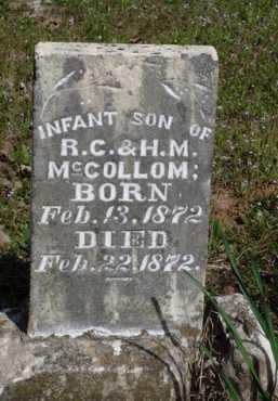 MCCOLLOM, INFANT SON - Washington County, Arkansas | INFANT SON MCCOLLOM - Arkansas Gravestone Photos