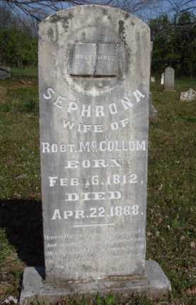 MCCOLLOM, SEPHRONA - Washington County, Arkansas | SEPHRONA MCCOLLOM - Arkansas Gravestone Photos