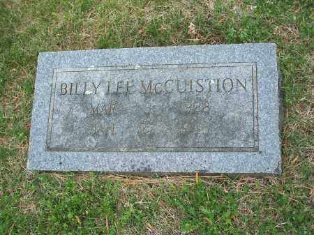 MCCUISTION, BILLY LEE - Washington County, Arkansas | BILLY LEE MCCUISTION - Arkansas Gravestone Photos