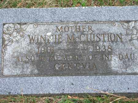 MCCUISTION, WINNIE - Washington County, Arkansas | WINNIE MCCUISTION - Arkansas Gravestone Photos