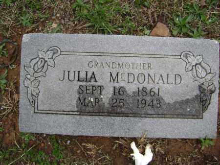 MCDONALD, JULIA - Washington County, Arkansas | JULIA MCDONALD - Arkansas Gravestone Photos