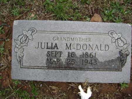 MCDONALD, JULIA - Washington County, Arkansas | JULIA MCDONALD - Arkansas Gravestone Photos
