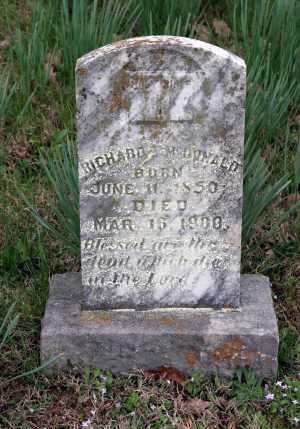 MCDONALD, RICHARD T - Washington County, Arkansas | RICHARD T MCDONALD - Arkansas Gravestone Photos