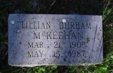 DURHAM MCKEEHAN, LILLIAN - Washington County, Arkansas | LILLIAN DURHAM MCKEEHAN - Arkansas Gravestone Photos