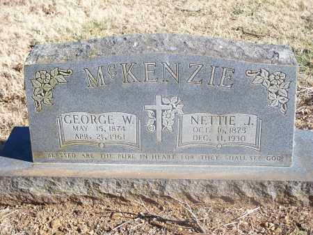 MCKENZIE, NETTIE J. - Washington County, Arkansas | NETTIE J. MCKENZIE - Arkansas Gravestone Photos