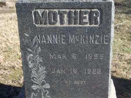 MCKINZIE, NANNIE - Washington County, Arkansas | NANNIE MCKINZIE - Arkansas Gravestone Photos