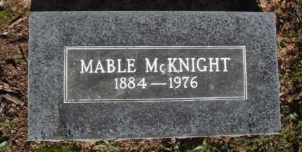 MCKNIGHT, MABLE - Washington County, Arkansas | MABLE MCKNIGHT - Arkansas Gravestone Photos