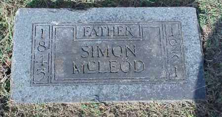 MCLEOD, SIMON - Washington County, Arkansas | SIMON MCLEOD - Arkansas Gravestone Photos