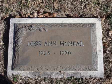 MCNEAL, LOSS ANN - Washington County, Arkansas | LOSS ANN MCNEAL - Arkansas Gravestone Photos