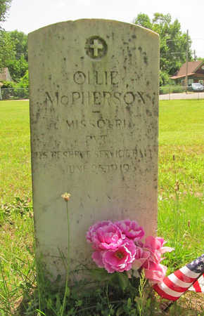 MCPHERSON (VETERAN), OLLIE - Washington County, Arkansas | OLLIE MCPHERSON (VETERAN) - Arkansas Gravestone Photos