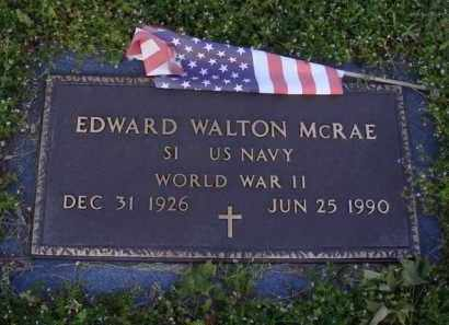 MCRAE  (VETERAN WWII), EDWARD WALTON - Washington County, Arkansas | EDWARD WALTON MCRAE  (VETERAN WWII) - Arkansas Gravestone Photos