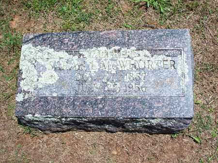 MCWHORTER, SARAH L. - Washington County, Arkansas | SARAH L. MCWHORTER - Arkansas Gravestone Photos