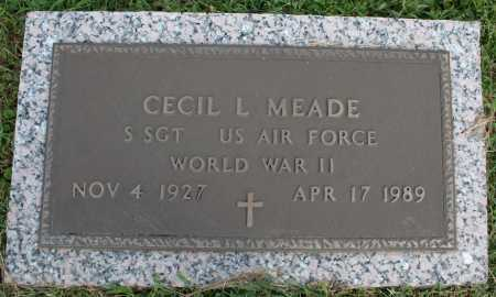 MEADE (VETERAN WWII), CECIL L. - Washington County, Arkansas | CECIL L. MEADE (VETERAN WWII) - Arkansas Gravestone Photos