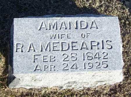 HINDS MEDEARIS, RACHEL AMANDA - Washington County, Arkansas | RACHEL AMANDA HINDS MEDEARIS - Arkansas Gravestone Photos