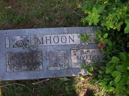 MHOON, MYRTHA - Washington County, Arkansas | MYRTHA MHOON - Arkansas Gravestone Photos