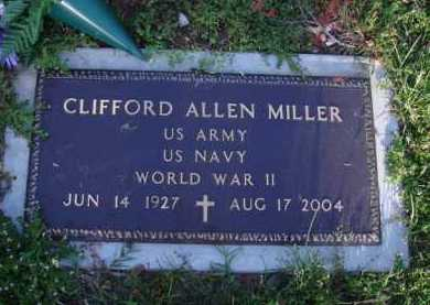 MILLER  (VETERAN WWII), CLIFFORD ALLEN - Washington County, Arkansas | CLIFFORD ALLEN MILLER  (VETERAN WWII) - Arkansas Gravestone Photos