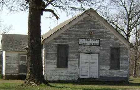 *MINERAL SPRINGS CHURCH,  - Washington County, Arkansas |  *MINERAL SPRINGS CHURCH - Arkansas Gravestone Photos