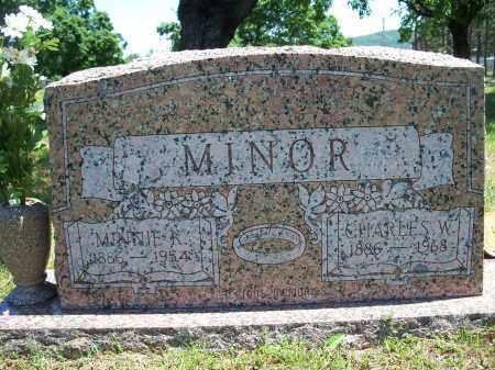 MINOR, CHARLES W. - Washington County, Arkansas | CHARLES W. MINOR - Arkansas Gravestone Photos