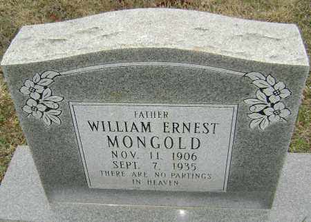 MONGOLD, WILLIAM ERNEST - Washington County, Arkansas | WILLIAM ERNEST MONGOLD - Arkansas Gravestone Photos