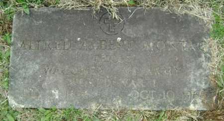 MONTAG  (VETERAN WWI), ALFRED ALBERT - Washington County, Arkansas | ALFRED ALBERT MONTAG  (VETERAN WWI) - Arkansas Gravestone Photos