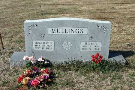 MULLINGS, FRED RIFFE - Washington County, Arkansas | FRED RIFFE MULLINGS - Arkansas Gravestone Photos