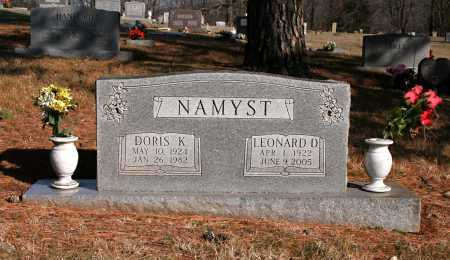 NAMYST, LEONARD D. - Washington County, Arkansas | LEONARD D. NAMYST - Arkansas Gravestone Photos