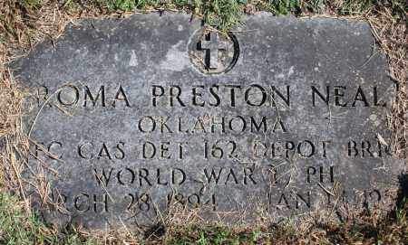 NEAL VETERAN  WWI), ROMA PRESTON - Washington County, Arkansas | ROMA PRESTON NEAL VETERAN  WWI) - Arkansas Gravestone Photos