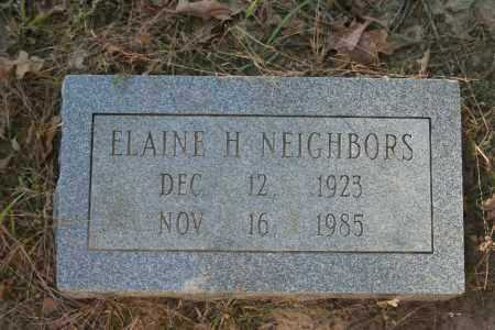 NEIGHBORS, ELAINE H. - Washington County, Arkansas | ELAINE H. NEIGHBORS - Arkansas Gravestone Photos
