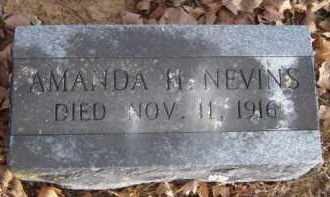 NEVINS, AMANDA H. - Washington County, Arkansas | AMANDA H. NEVINS - Arkansas Gravestone Photos
