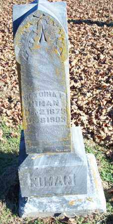 NIMAN, VICTORIA F. - Washington County, Arkansas | VICTORIA F. NIMAN - Arkansas Gravestone Photos