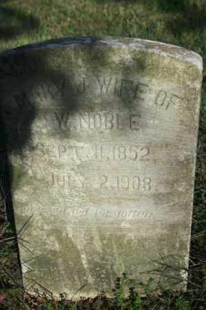 NOBLE, MARY J. - Washington County, Arkansas | MARY J. NOBLE - Arkansas Gravestone Photos
