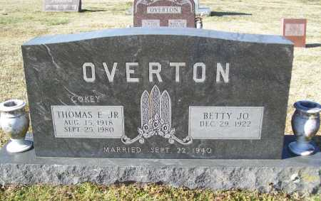 DUMMITT OVERTON, BETTY JO - Washington County, Arkansas | BETTY JO DUMMITT OVERTON - Arkansas Gravestone Photos