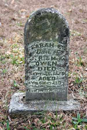 OWEN, SARAH E. - Washington County, Arkansas | SARAH E. OWEN - Arkansas Gravestone Photos