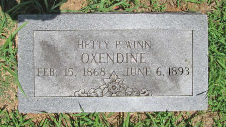 WINN OXENDINE, HETTY P - Washington County, Arkansas | HETTY P WINN OXENDINE - Arkansas Gravestone Photos