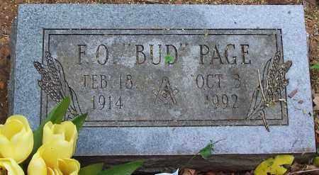 "PAGE, F. O. ""BUD"" - Washington County, Arkansas | F. O. ""BUD"" PAGE - Arkansas Gravestone Photos"