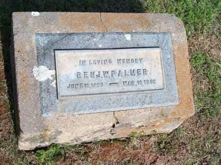 PALMER, BENJAMIN W. - Washington County, Arkansas   BENJAMIN W. PALMER - Arkansas Gravestone Photos