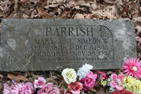 PARRISH, SIMEON W. - Washington County, Arkansas | SIMEON W. PARRISH - Arkansas Gravestone Photos