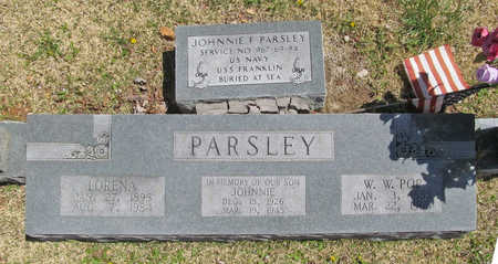 "PARSLEY, W W ""POP"" - Washington County, Arkansas 