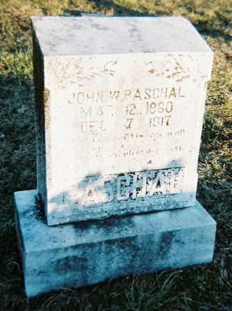 PASCHAL, JOHN W. - Washington County, Arkansas | JOHN W. PASCHAL - Arkansas Gravestone Photos