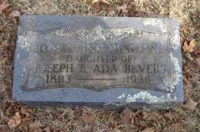 BEVERS PASCHAL, JO PAULINE - Washington County, Arkansas | JO PAULINE BEVERS PASCHAL - Arkansas Gravestone Photos