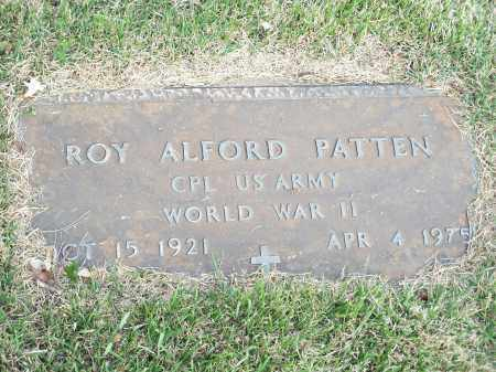PATTEN (VETERAN WWII), ROY ALFORD - Washington County, Arkansas | ROY ALFORD PATTEN (VETERAN WWII) - Arkansas Gravestone Photos