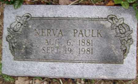 PAULK, NERVA - Washington County, Arkansas | NERVA PAULK - Arkansas Gravestone Photos